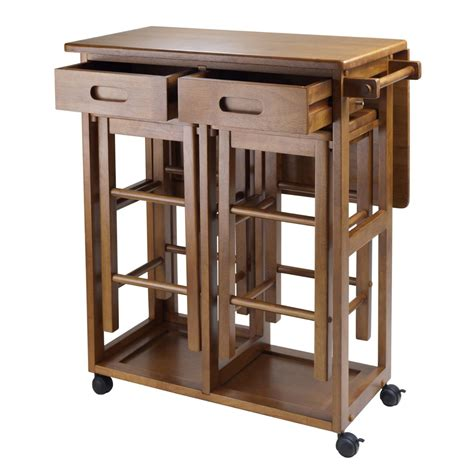 space saver kitchen tables drop leaf kitchen table set w 2 stools space saver small eat in dining furniture ebay