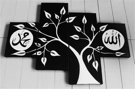 lukisan dinding pohon hitam putih koleksi rial