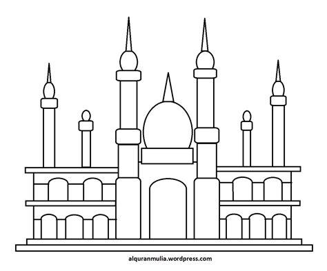 Islam Untuk Anak mewarnai gambar masjid 18 anak muslim alqur anmulia