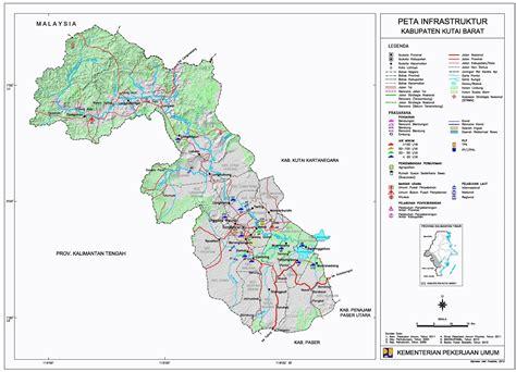 peta kota peta kabupaten kutai barat