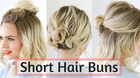 quick bun hairstyles  short medium hair hair