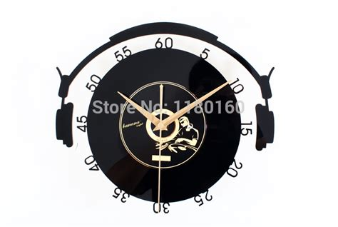 hot selling amazing fashionable creative wall clock aliexpress com buy music vinyl cd album steric wall