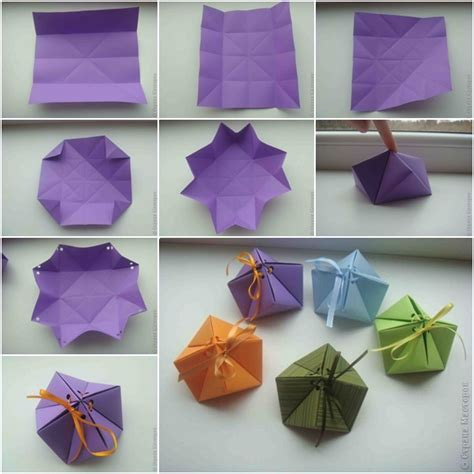 How To Make Origami Gift Box - how to diy paper origami gift box www fabartdiy