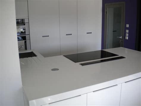 Charmant Plan Travail Pierre #6: Cuisine-granit-quartz-crystal-polar-white-epais.jpg
