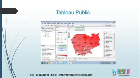 tutorial tableau public ppt data visualization tool tableau introduction best