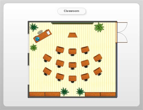 Floor Plan For Classroom room planning with conceptdraw classroom plan