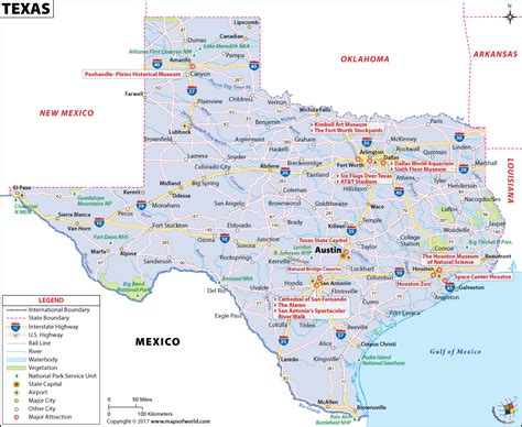 texas in the map texas map map of texas tx usa