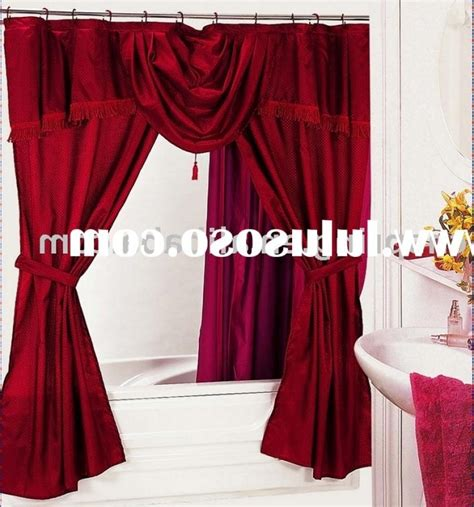 swag shower curtain attached valance double swag shower curtain attached valance interior