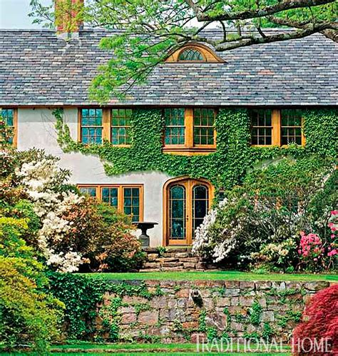 traditional house a garden romantic traditional home