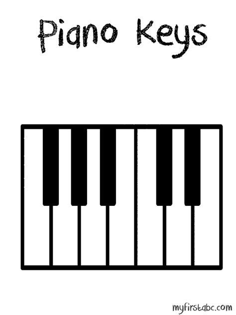 Coloring Page Piano Keys | piano keys colouring pages