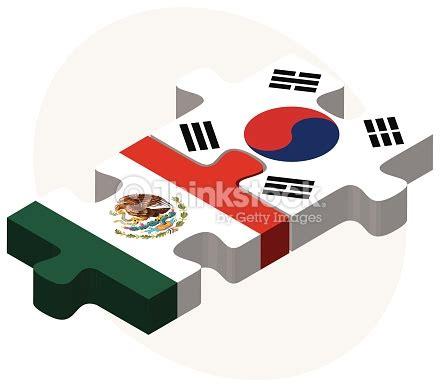 Mexico Corea Banderas De M 233 Xico Y De Corea Sur En Puzzle Arte