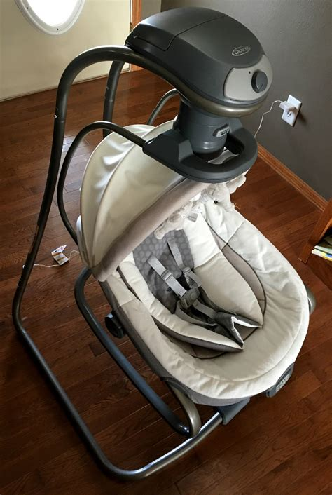 graco side swing graco oasis swing featuring soothe surround technology