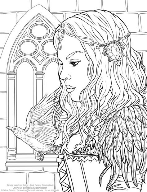 coloring pages of people s hair 19 best free fantasy coloring pages images on pinterest