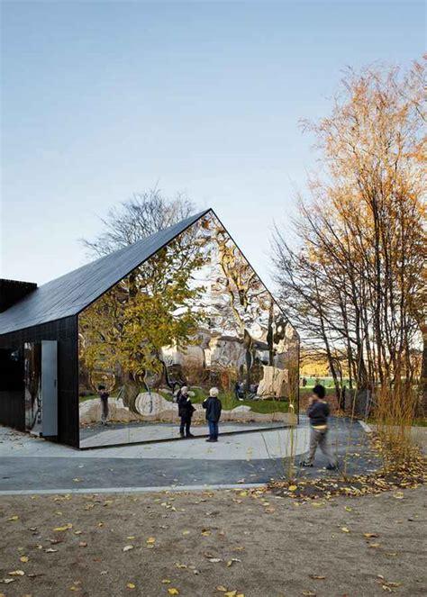 mirrored house mirror house copenhagen central park pavilion e architect