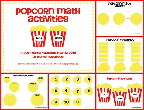 math activities popcorn math activities boy