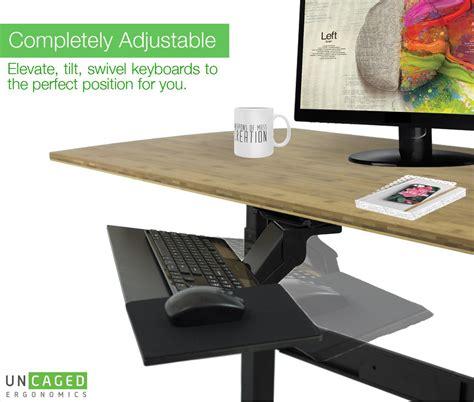 under desk keyboard tray amazon kt1 ergonomic under desk computer keyboard tray w