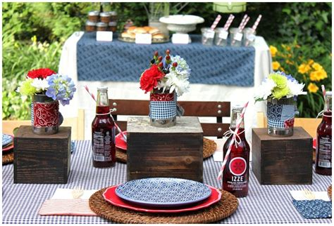 bbq style table decor ideas