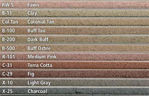 brick mortar color chart masonry materials cincinnati oh western