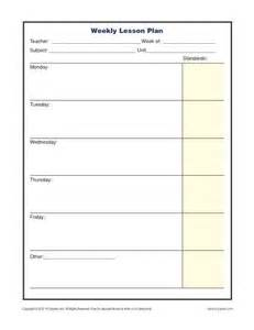 standard lesson plan template weekly lesson plan template with standards elementary