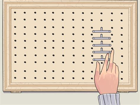 peg board how to frame pegboard with pictures wikihow