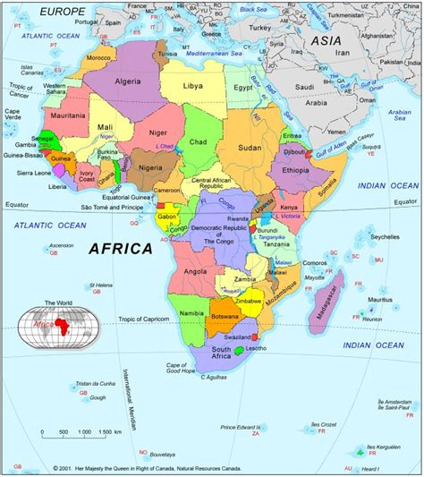 learn the map of africa easily by this pictures