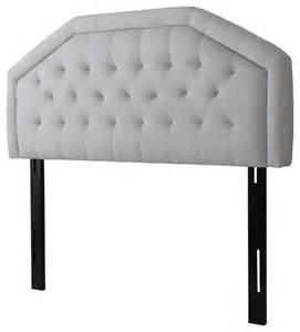 vincent adjustable light gray fabric headboard for
