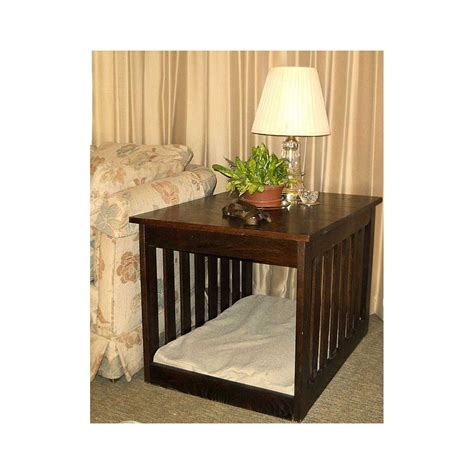 pet bed end table solid hardwood pet bed end table