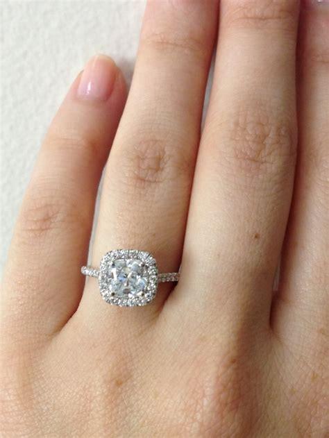 cushion cut engagement ring on hand quotes tacori wedding