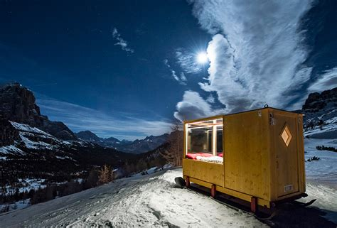 Starlight Cabins by Tiny Starlight Room In The Dolomites Offers Dramatic Views