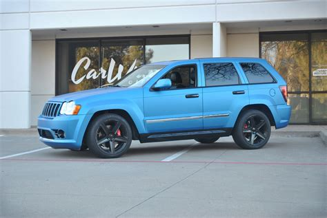 matte blue jeep matte blue metallic jeep grand color change wrap