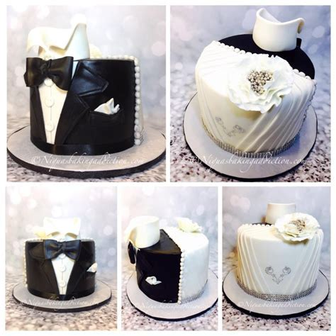 Half Wedding Dress Half Tuxedo Cake   cake by Cake'D By