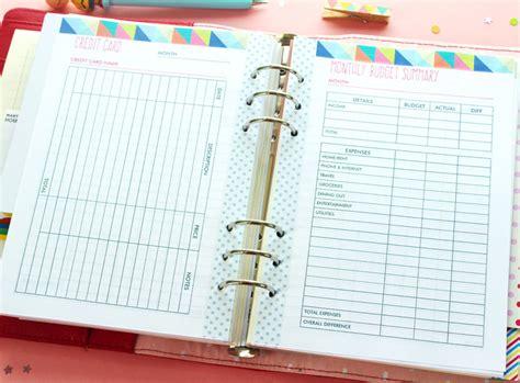 printable planner pages for 3 ring binder blog planner and budget planner printables