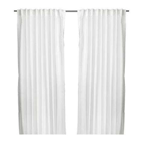 hemming ikea curtains ikea vivian 2 curtains 300 x 145 cm with tunnel hem white