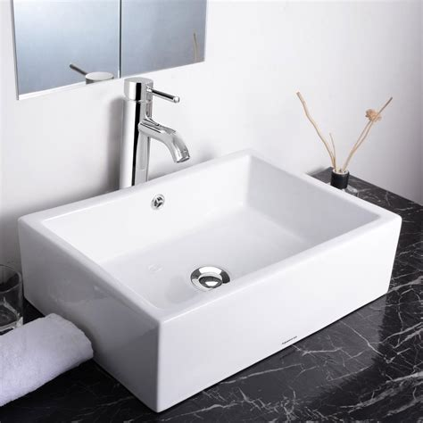 vessel sink faucet combo aquaterior bathroom porcelain ceramic vessel sink bowl w