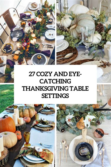 thanksgiving table settings 27 cozy and eye catching thanksgiving table settings