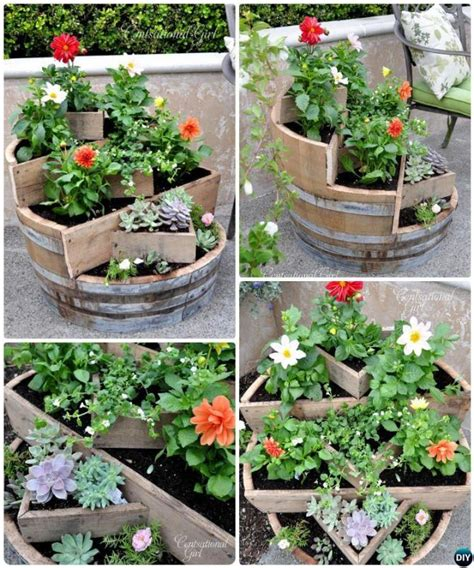 Upcycled Garden Ideas 20 Diy Upcycled Container Gardening Planters Projects Wine Barrel Planter Barrel Planter And