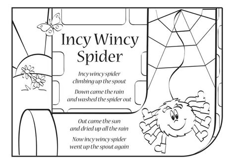 Coloring Page Itsy Bitsy Spider by Quot Itsy Bitsy Spider Quot Also Known As Quot Incy Wincy Spider Quot Is