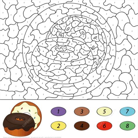 Donuts Number donuts color by number free printable coloring pages