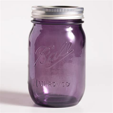 purple glass 1 pint heritage ball jars set of 6 world market