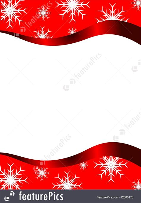 vector christmas stationary  top  bottom christmas borders