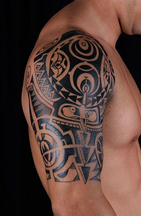 good shoulder tattoos for men glamorous tribal shoulder tattoos for designs 0