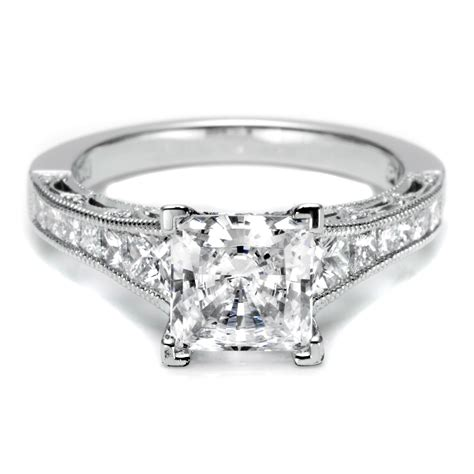 sparkling collections of princess cut wedding