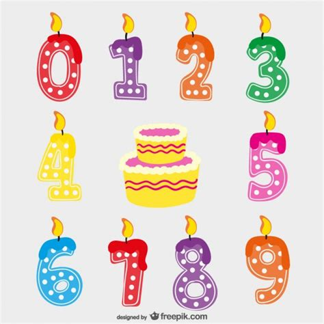 imagenes de cumpleaños numero 23 velas de cumplea 241 os vector descargar vectores gratis