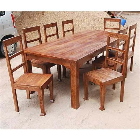 8 Person Dining Table Set Rustic 8 Person Large Kitchen Dining Table Solid Wood 9 Pc Chair Set Furniture Chairs Kitchen