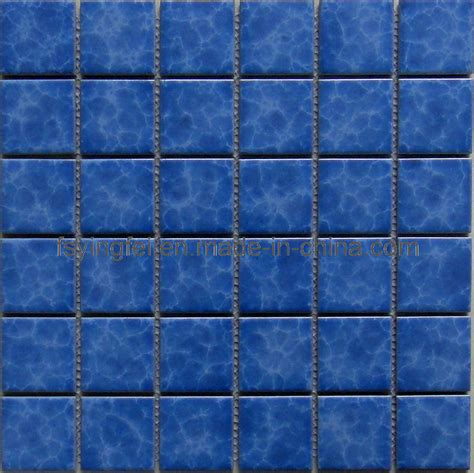blue tiles china blue glazed mosaic swimming pool tile y48k03