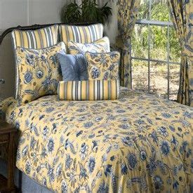 Blue And Yellow Coverlet Cherborg Luxury Bedding By Victor Mill Cherborg Yellow And