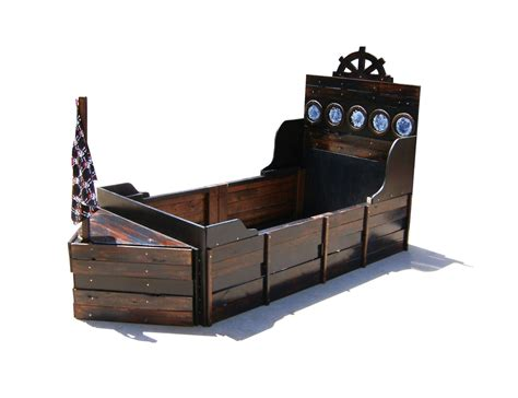 Pirate Ship Bed Handmade Pirate Ship Twin Bed By Sonoran Sandman