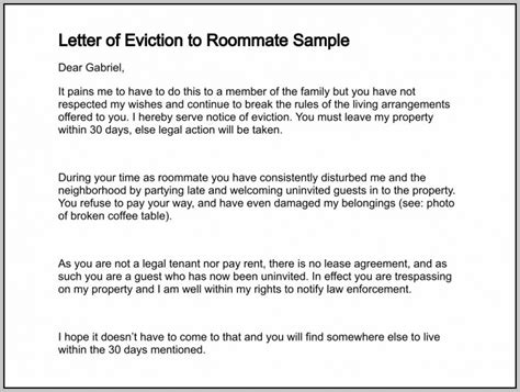 Lodger Eviction Letter Template Eviction Notice Template Lodger Template Resume Exles Ragdrrwdnl