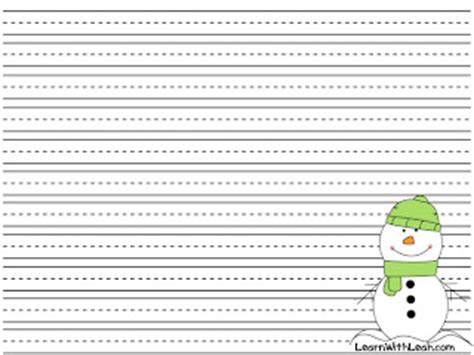 snowman writing paper printable snowman writing template search results