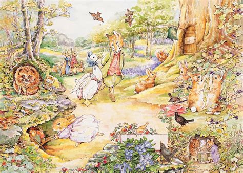 National Geographic Wall Mural peter rabbit country stroll new york puzzle company